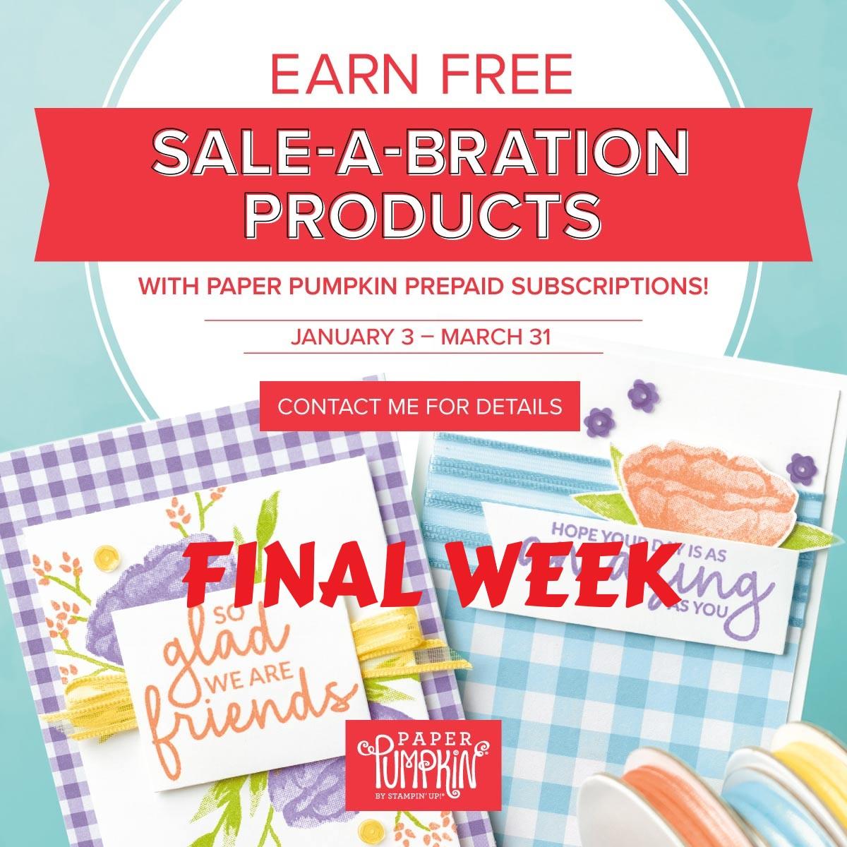Marvelous Possibilities: Final week of SaleABration  Don't