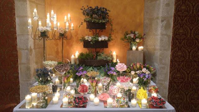 mesa de golosinas. Decoración de bodas y eventos.