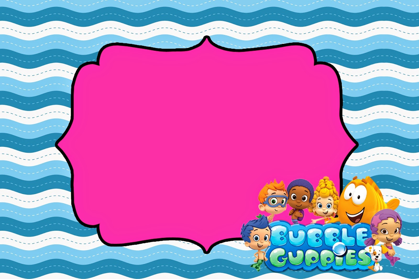 Bubble Guppies Free Printable Invitations. | Oh My Fiesta! in english