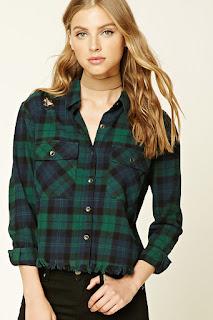 plaid, womens shirt