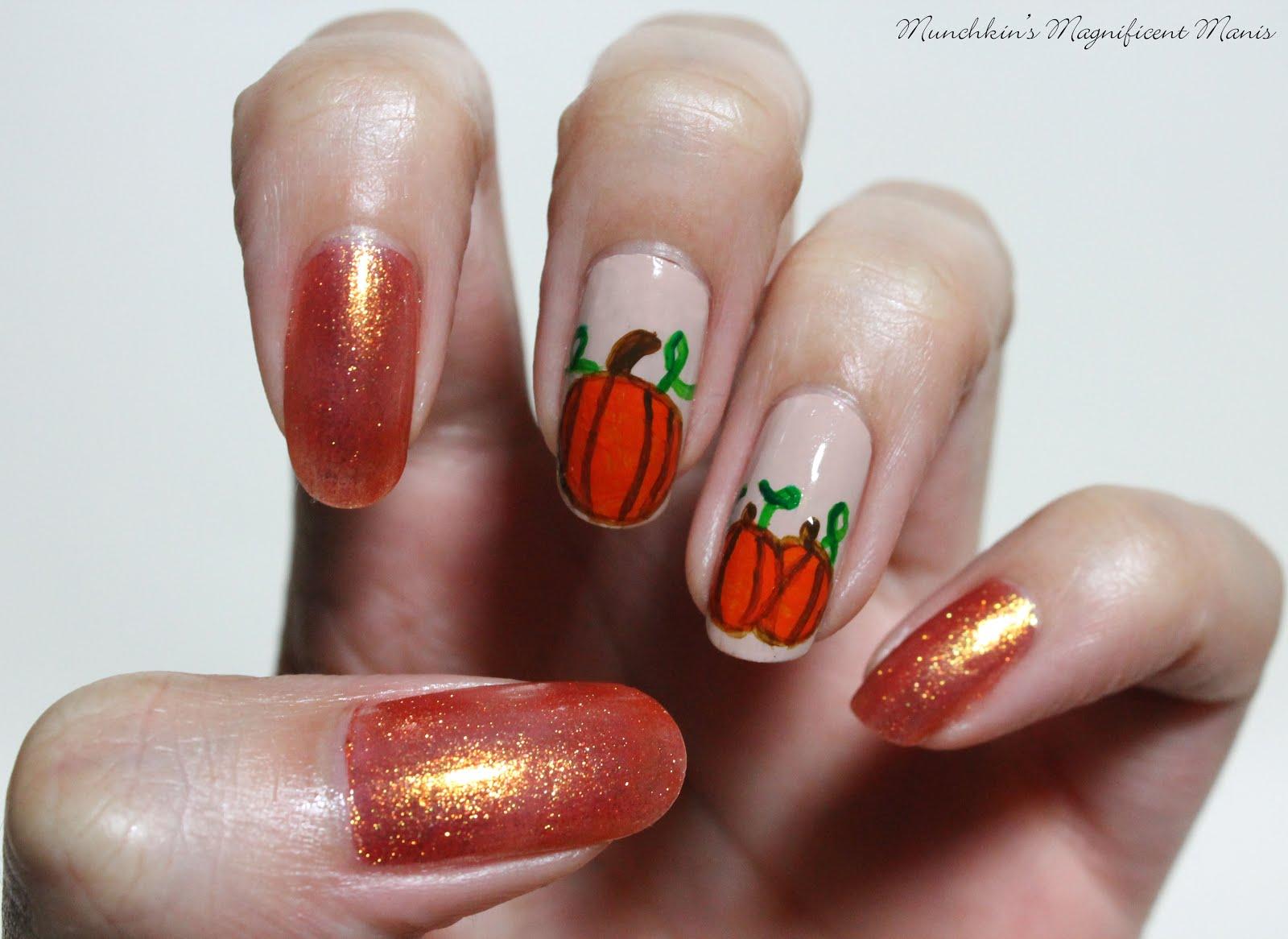 Munchkins Magnificent Manis: Pumpkin Spice- Pumpkin Nail ...