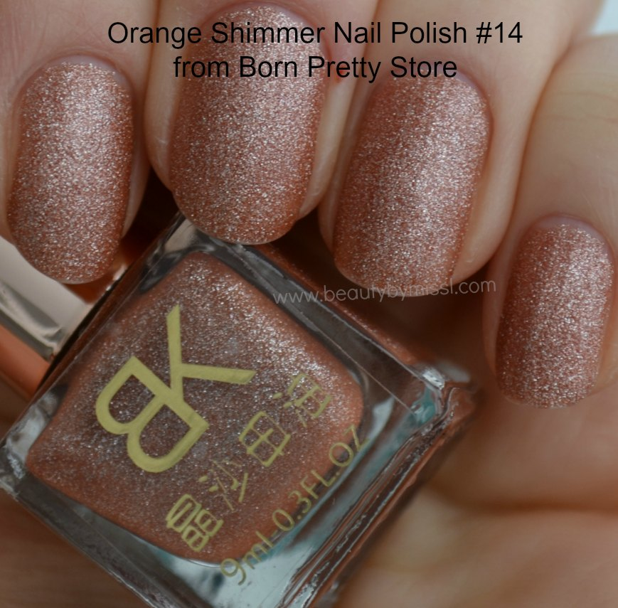 Review swatches BK Born Pretty Store glitter nail