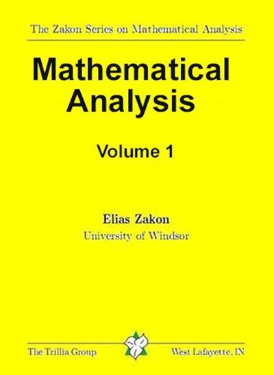 Download Mathematical Analysis Volume I pdf | TR Book Share