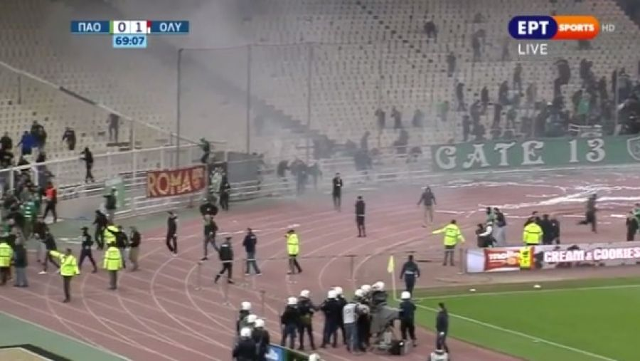 Παναθηναϊκός - Ολυμπιακός 0-1  Οριστική διακοπή στο ΟΑΚΑ