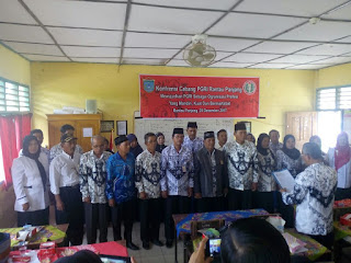 Pengurus PGRI Kecamatan Rantau Panjang Dikukuhkan