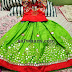 Green and Red Mirror Work Lehenga