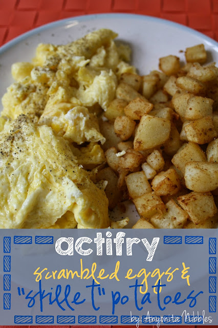 Actifry scrambled eggs and skillet potatoes
