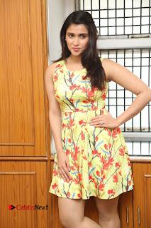 Actress Mannara Chopra Pictures in Floral Short Dress at Jakkanna Movie Interview  0071.JPG