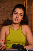Actress Catherine Tresa Pos during Self Dubbing for Gautham Nanda Movie  0079.JPG