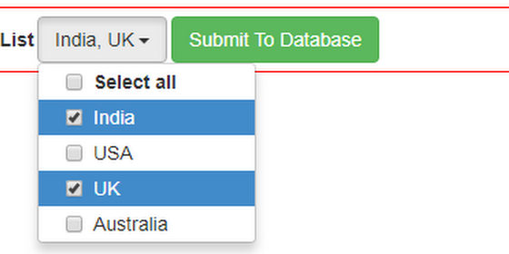 ASP NET ListBox with Multi Select DropdownList with CheckBoxes Using