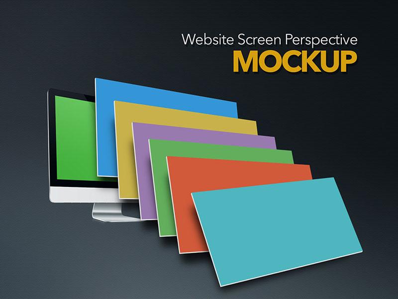 Website Screens Perspective Mockup