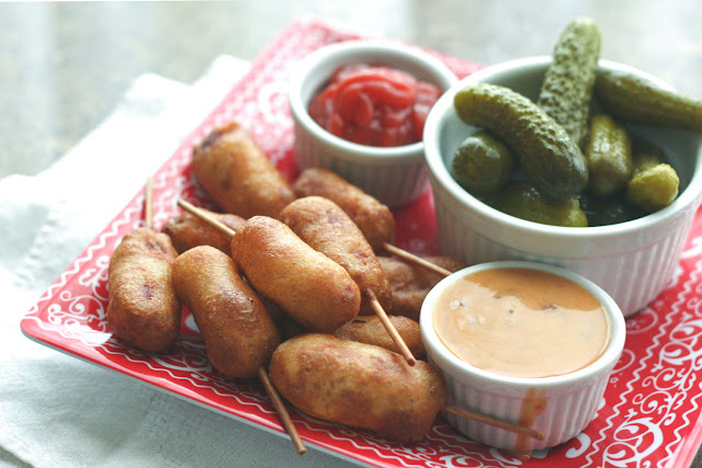 Miniature Homemade Corn Dogs {traditional and gluten-free recipes}