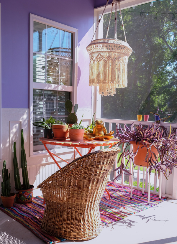 A sunny spot on screened in porch- design addict mom
