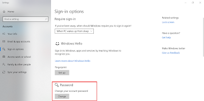 Add/Change Password Windows