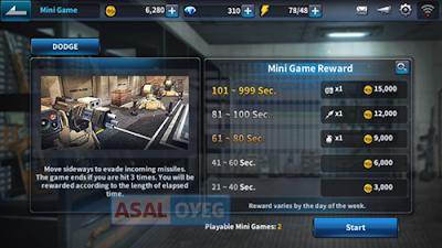 reward mini game