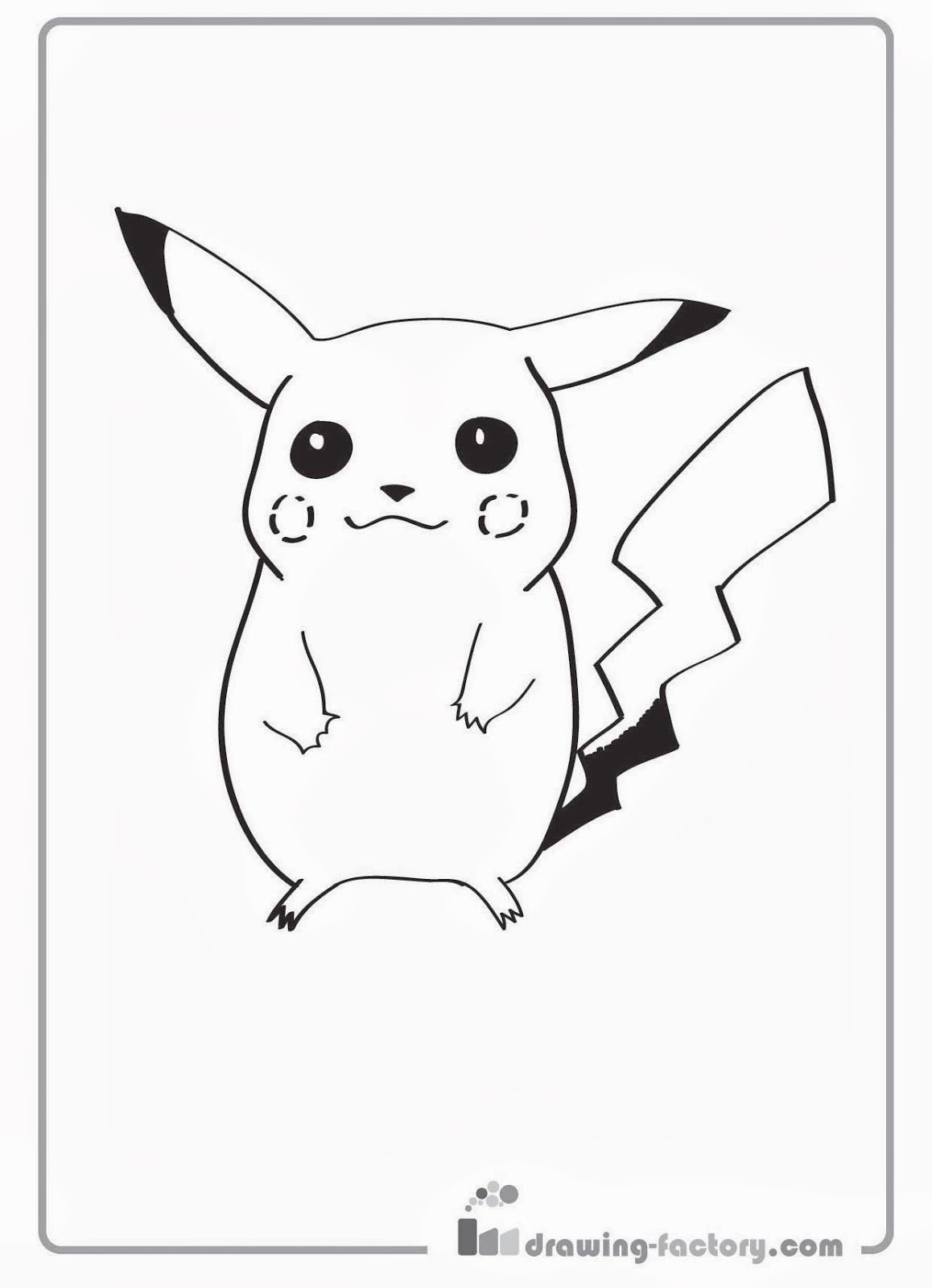 pikachu coloring pages free   FCP