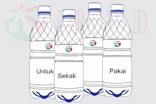 Botol Air Kemasan Cukup Sekali Pakai