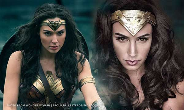 "Wow! This is incredible"", Wonder Woman to Paolo Ballesteros's makeup transformation"