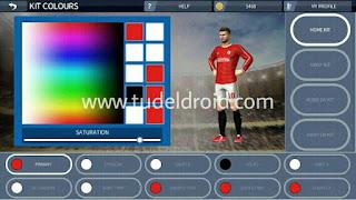 Ubah baju tim Dream Soccer League
