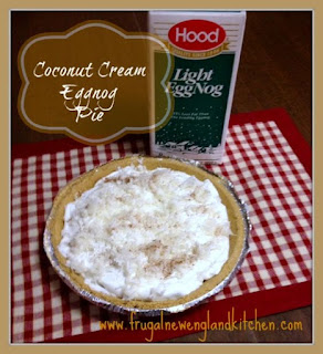 No Bake Coconut Cream Pie Eggnog Pie