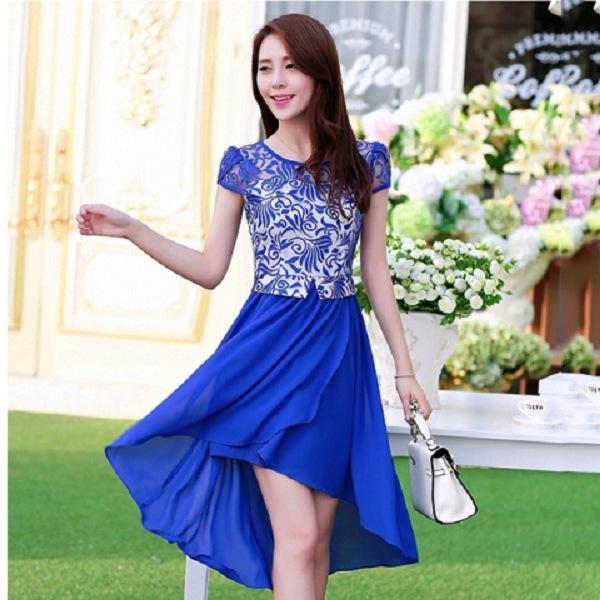 Model Baju Dress Terbaru Brokat Panjang Pendek Untuk Ke