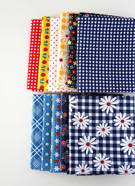 Gingham Girls fabric fat quarter bundle