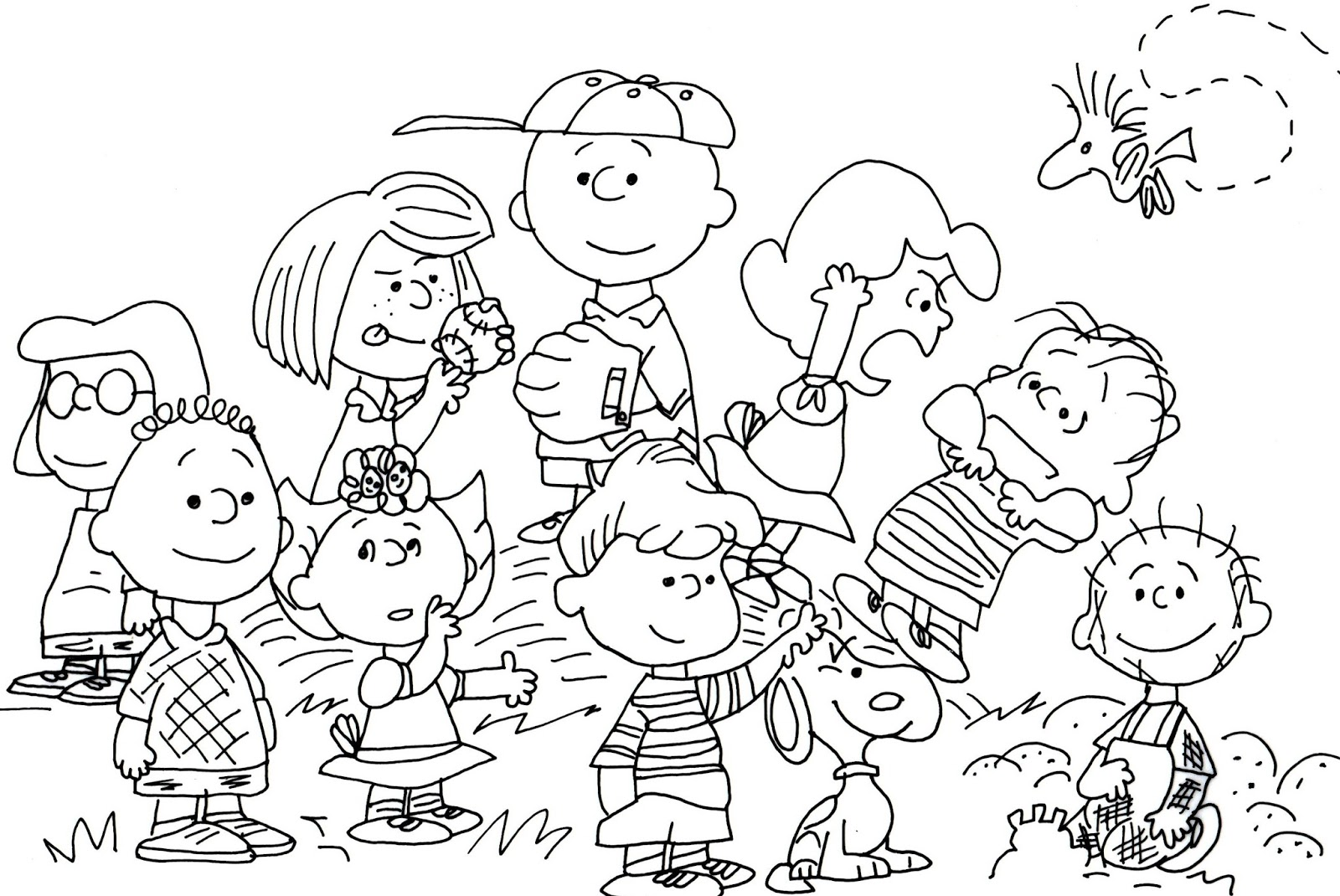 Free Coloring Pages Peanuts