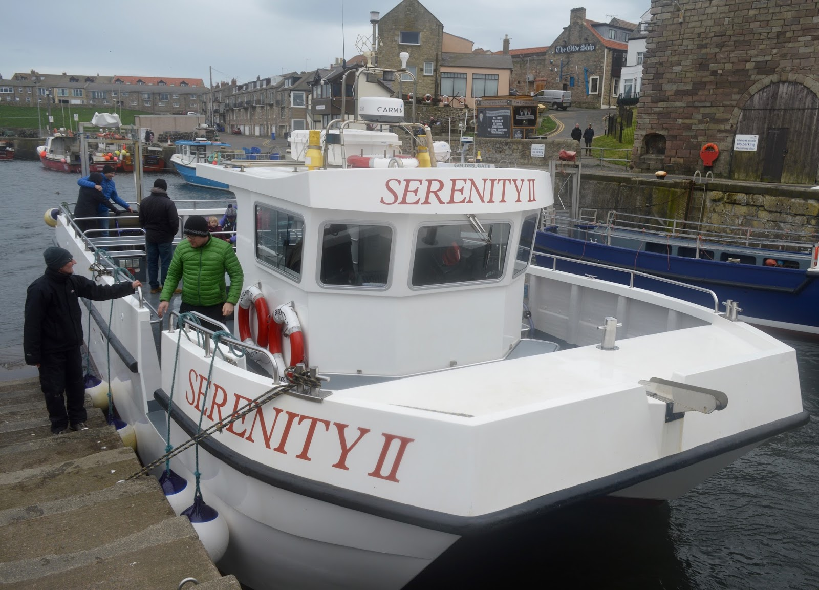 Farne Island Boat Trips with Serenity | A review and what to expect with kids - back in Seahouses harbour