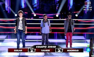 Edgard, Xavier, Rodrigo cantan You Raise Me Up de Josh Groban
