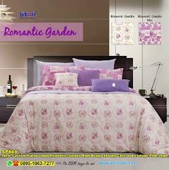 Sprei Custom Katun Lokal Romantic Garden Pink Bunga Shabby Chic And Vintage Pink Ungu Dewasa