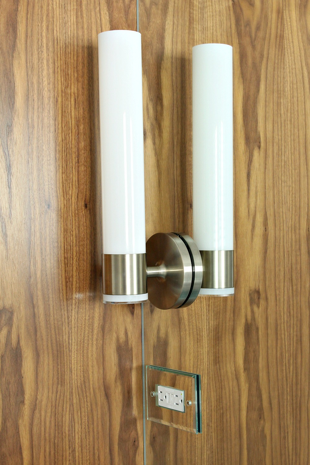 Bathroom Update: Kohler Purist Sconces Mounted on a Sheet Mirror ...