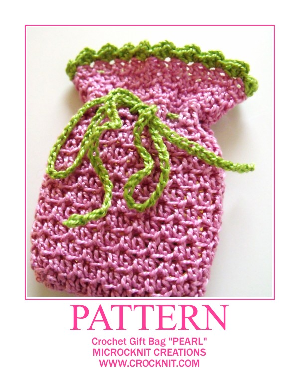 free crochet patterns, small bags, drawstring bags, how to crochet,