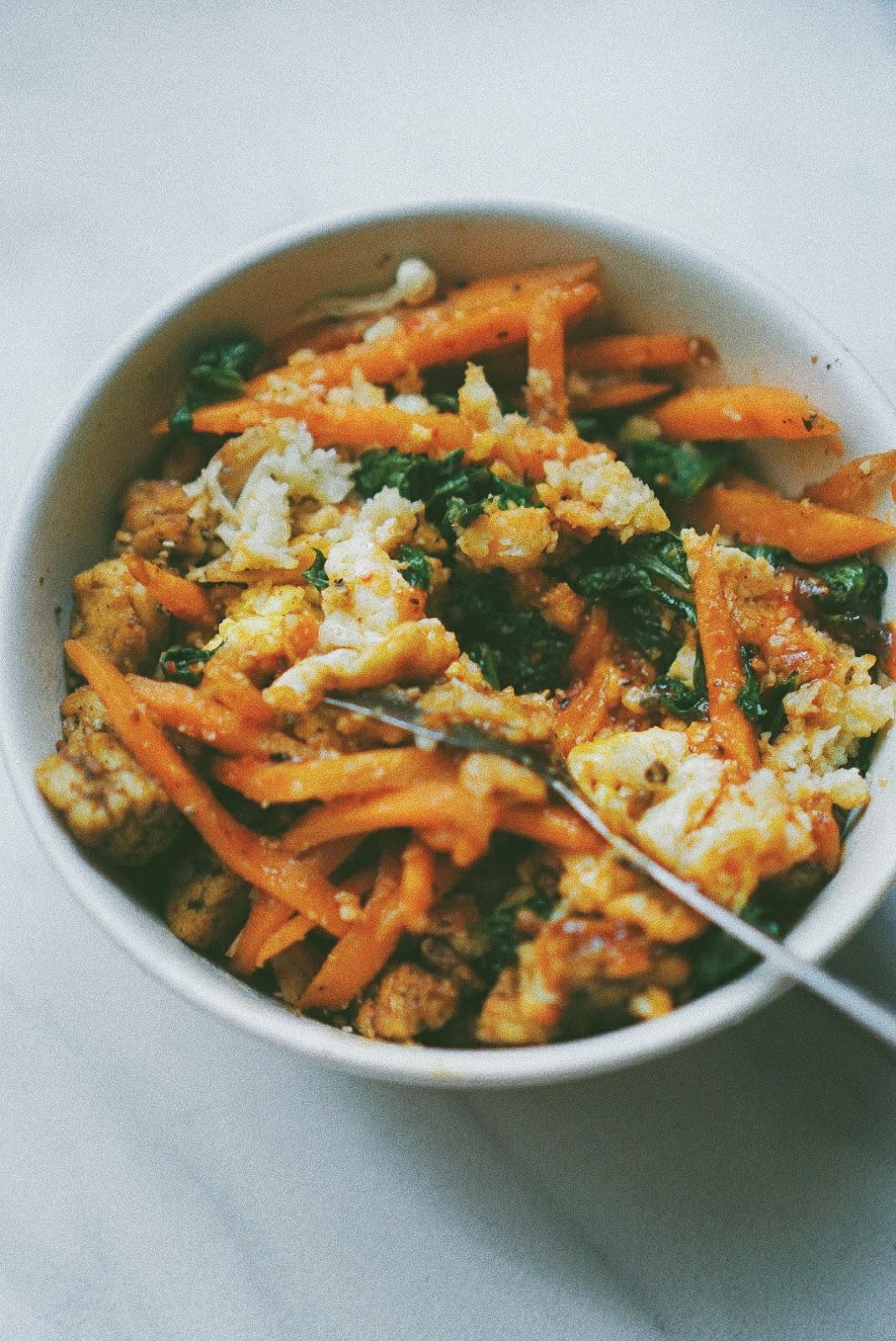 Resep Bibimbab with Cauliflower Rice 3