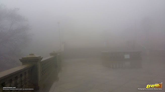 A foggy Talakaveri in Bhagamandala, Coorg, Kodagu district