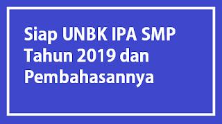 Bocoran Soal UNBK IPA 2019