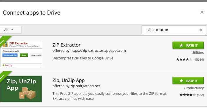 How To: Browse, Extract Contents Inside Zipped Files in Google Drive