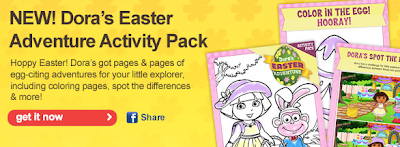 dora easter coloring pages - free printable dora easter activity pack jinxy kids