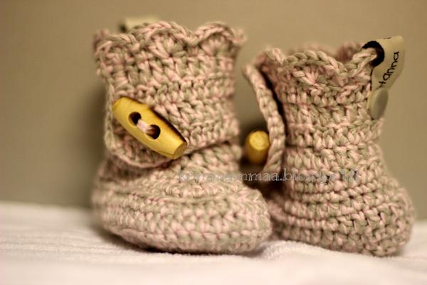 virkattu vauvan tossut baby boots