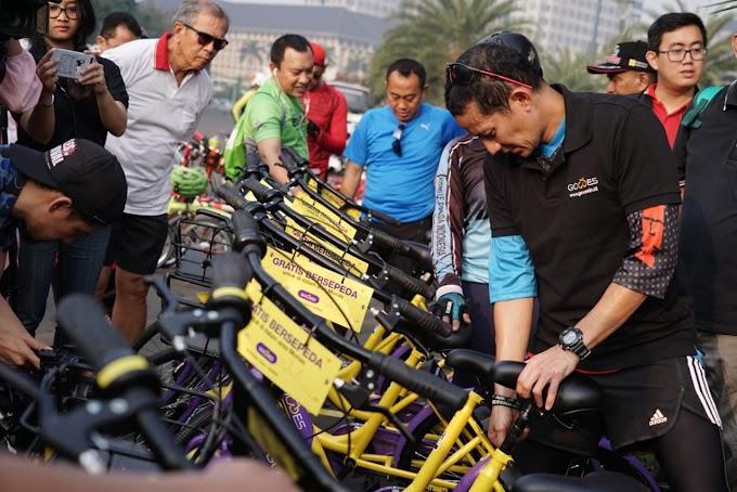 Uji Coba Layanan Baru Sepeda Bike Sharing Diarea Monas Bisa Dipinjam Dengan Gratis