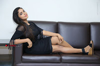 Telugu Actress Karunya Chowdary Latest Stills in Black Short Dress at Edo Prema Lokam Audio Launch .COM 0134.JPG