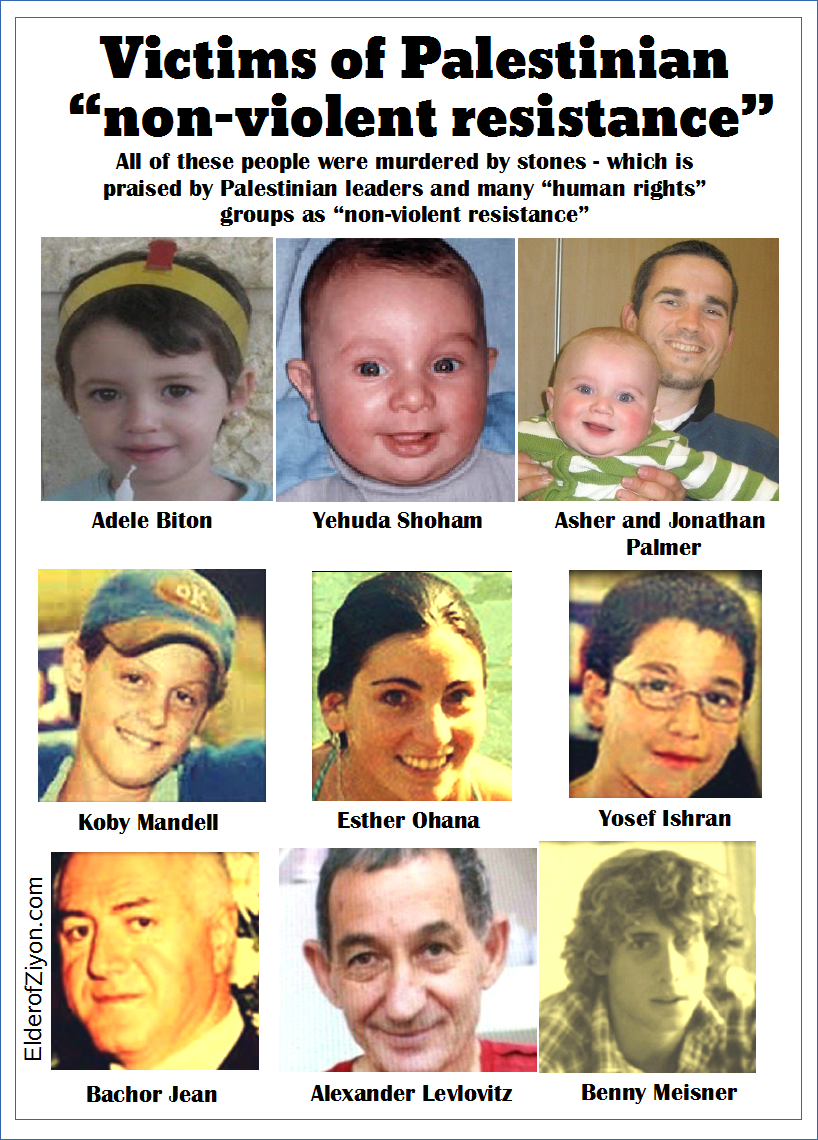 "Victims of Palestinian Arab ""non-violent resistance ...
