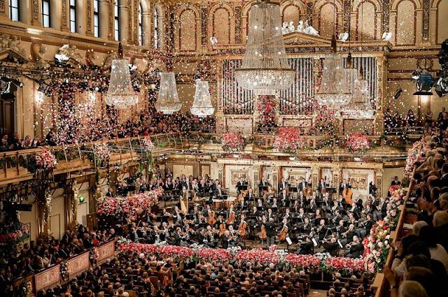 Concerto de Ano Novo no Teatro La Fenice em Veneza