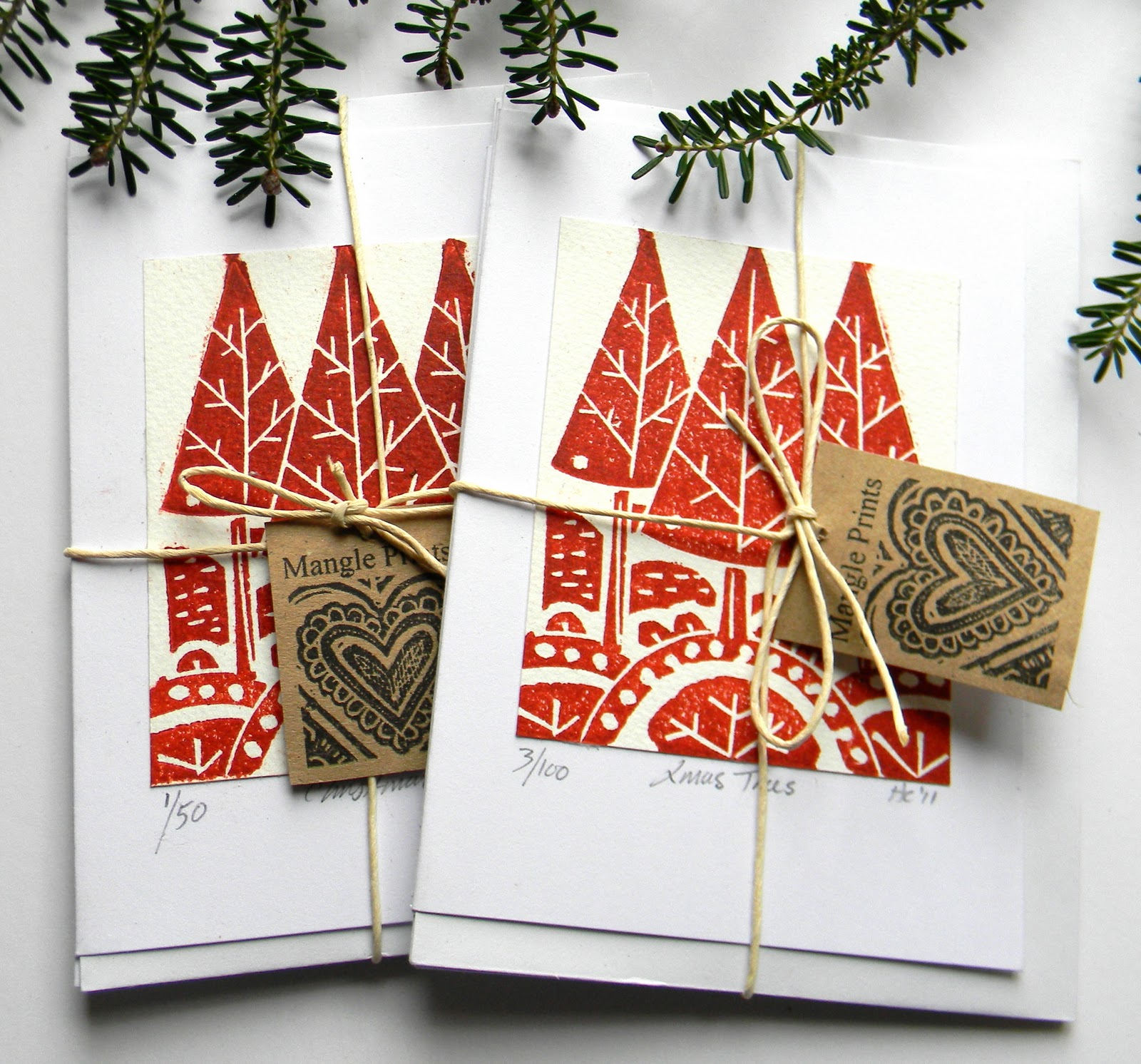 Mangle Prints Christmas Cards And Heat