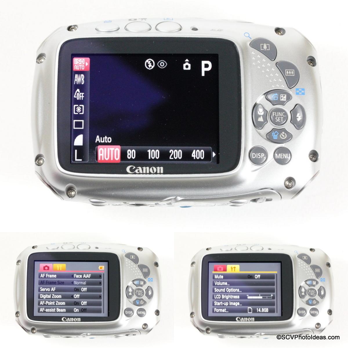 Canon PowerShot D10 Camera Program and Menus