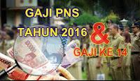 gaji, ke 14, pns, asn, 2016