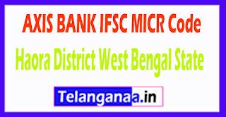 AXIS BANK IFSC MICR Code Haora District West Bengal State