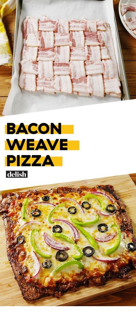 Bacon Weave Pizza