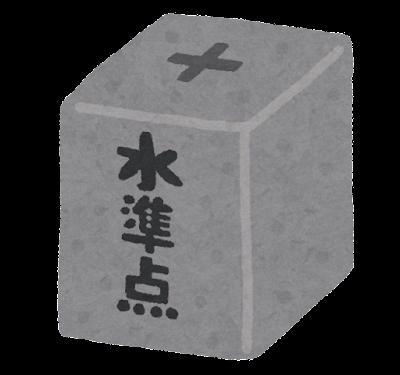 水準点のイラスト(石柱)