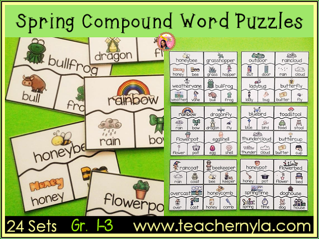 Spring themed Compound Words