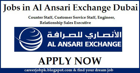 Jobs in Al Ansari Exchange Dubai Uae